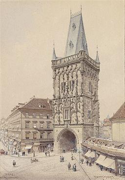 Richard Moser Prag Pulverturm 1911