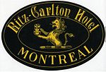Ritz-Carlton Hotel, Montreal, Luggage Label.jpg