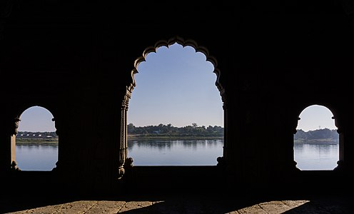 Narmada from Maheshwar fort.