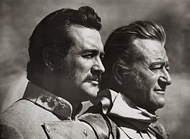 Rock Hudson en John Wayne in The Undefeated