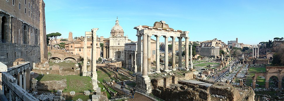 The Forum Romanum. View facing north east from above the Portico Dii Consentes.