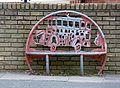 Romsley Road - Field Lane, Bartley Green - bus bench sculpture (23178571359).jpg
