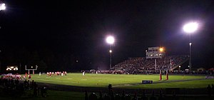 Photo of night homecoming football game at The...