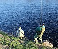 Rothes and Aikenway ghillie nets a fish on the Spey. - geograph.org.uk - 338522.jpg