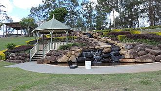 Hillcrest, Queensland - Rotunda and water garden, Logan West Community Centre, Hillcrest, 2014