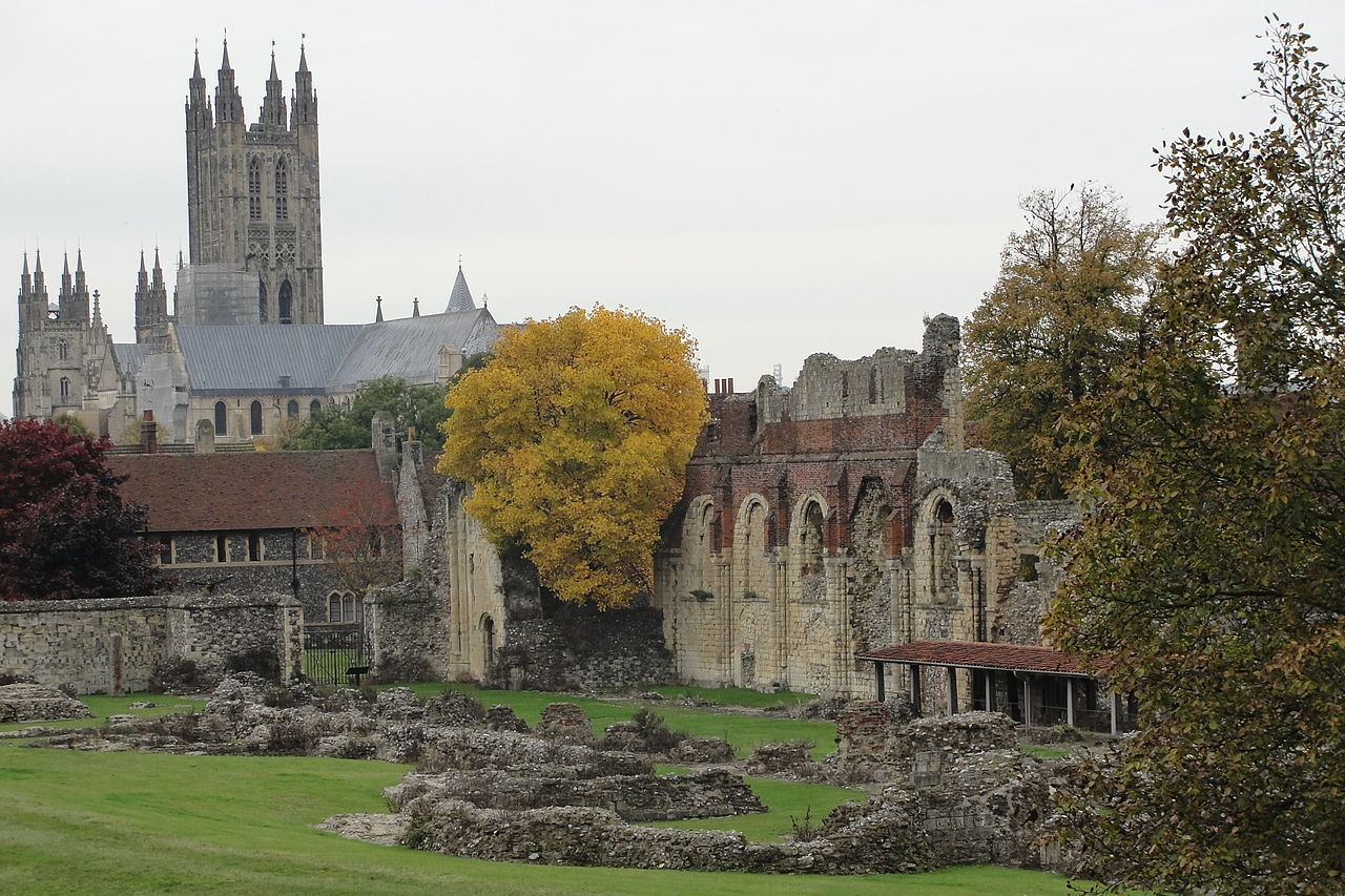 """""""Ruins of St Augustines Abbey"""" by Nessy-Pic - Own work. Licensed under CC BY-SA 3.0 via Wikimedia Commons - http://commons.wikimedia.org/wiki/File:Ruins_of_St_Augustines_Abbey.JPG#/media/File:Ruins_of_St_Augustines_Abbey.JPG"""