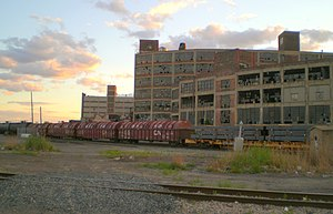 Detroit bankruptcy - Detroit at Milwaukee Junction, looking southwest at the Russell Industrial Center
