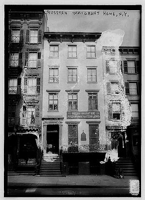 Russian Americans - Russian immigrant home, New York City, 1910—1915.