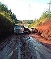 Ruta Naranjal-San Cristóbal antes da reestruturação e recapeamento asfáltico finalizada em 2018.jpg