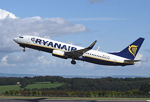 Airline - Ryanair Boeing 737-800 shortly after take-off