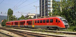 Slovenian Railways - SŽ series 312 Electric multiple unit in Ljubljana