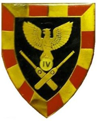 4 Artillery Regiment (South Africa) - Image: SADF era 4 Artillery Regiment emblem v 2