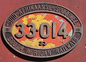 South African Class 33-000 - Image: SAR Class 33 000 33 014 ID