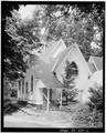 SOUTH AND WEST ELEVATIONS - St. John the Evangelist Episcopal Church, Dingmans Ferry, Pike County, PA HABS PA,52-DING,4-2.tif