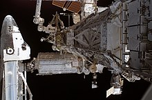 Atlantis docked to the ISS
