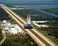 STS-51-L - Space Shuttle Challenger on the Crawler-Transporter.jpg
