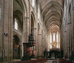 Saint-Maximin-la-Sainte-Baume - Basilica of Mary Magdalene, begun 1295.