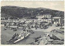 La marina di Andora in una fotografia della metà del Novecento