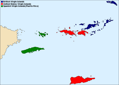 Political regions of the Virgin Islands