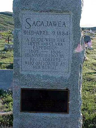 Sacagawea - Marker of grave alleged to be Sacajawea's, Fort Washakie, Wyoming
