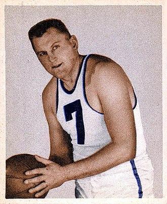 Ed Sadowski (basketball) - Sadowski depicted on a Bowman trading card, 1948