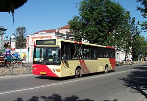 Gus-Khrustalny (town) - A Saffle bus in Gus-Khrustalny