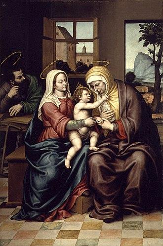 Nicolás Borrás - Holy Family with St. Anne, XVI, Museu de Belles Arts de València