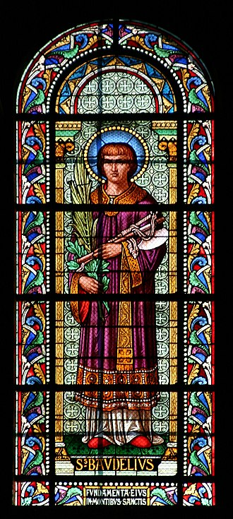 Baudilus - Stained glass window in the Nîmes Cathedral