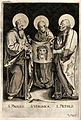 Saint Paul the Apostle, Saint Veronica and Saint Peter the A Wellcome V0033208.jpg