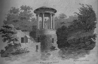 Holy well - Saint Bernard's well at Stockbridge near Edinburgh in 1800.