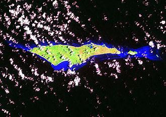 Samana Cay - Landsat Image of Samana Cay and White Cay, Bahamas