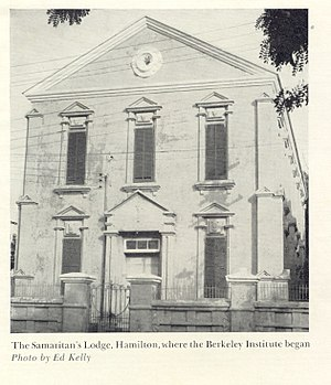 The Berkeley Institute - An early photo of the Samaritan's Hall.