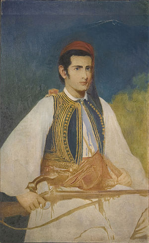 Samuel Gridley Howe - Samuel Gridley Howe painted in the dress of a Greek soldier by John Elliott. Elliott married Howe's daughter Maud Howe.