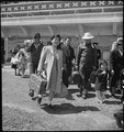 San Bruno, California. Family of Japanese ancestry arrives at assembly center at Tanforan Race trac . . . - NARA - 537482.tif