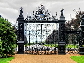 Sandringham House - The Norwich Gates – a wedding present to Edward and Alexandra from the gentry of Norfolk