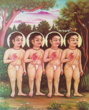 Nimbarka Sampradaya -  Sri Sanaka, Sanandana, Sanatana and Sanat Kumara - the four Kumaras