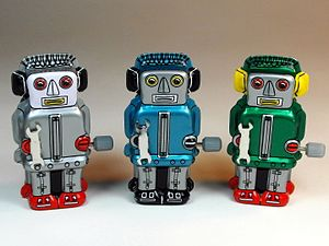 Sanko Seisakusyo (三幸製作所) – Tin Wind Up – Tiny Zoomer Robots – Front.jpg