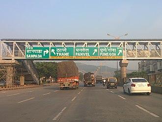 Thane–Belapur Road - Image: Sanpada Sion Panvel Highway