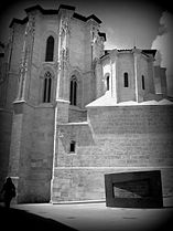 Santa María la Real Church Aranda de Duero in Spain - black and white photo.jpeg