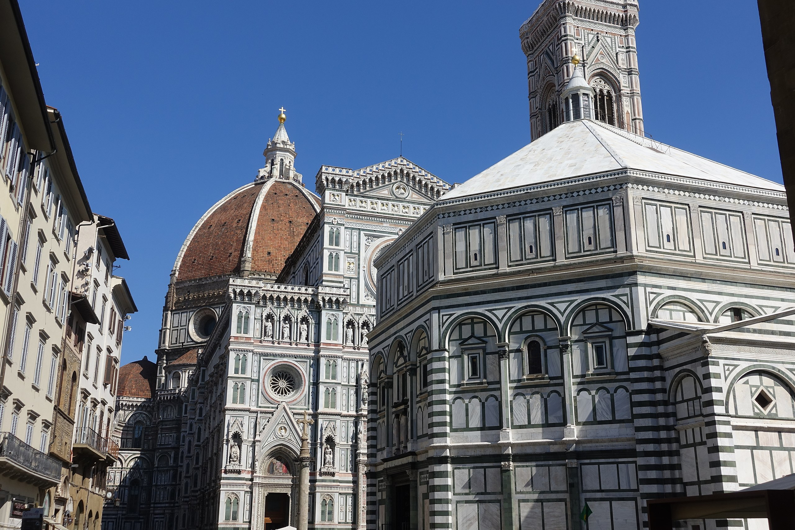 Baptistery and the Duomo, Florence, Italy.