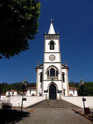 São Félix Hill - Senhora da Saúde Shrine. Our Lady of Good Health and Saint Félix are venerated in the hill.