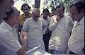 Saroj Ghose Explaining Science City Project To Prasanta Chatterjee - Meeting Between CMC And NCSM Officers - Science City Site - Dhapa - Calcutta 1993-04-22 0556.JPG