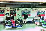 Sasol Jordan pits at the 1994 British Grand Prix (32162196620).jpg