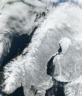 carte: Géographie de la Norvège
