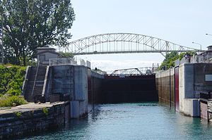 Sault Ste. Marie Canal - Image: Sault Ste Marie Canal Lock