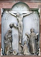 dalle funéraire de l'évêque Guillaume de Honstein à Saverne
