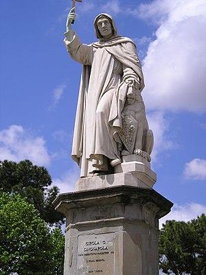 Monument to Savonarola in Piazza Savonarola - Savonarola Monument by Enrico Pazzi