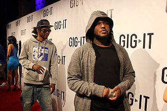 Ab-Soul - Black Hippy members Ab-Soul (left) and Schoolboy Q in April 2012.