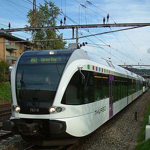 Tösstal railway line - The S26 in 2007/2009: Stadler GTW provided by THURBO.