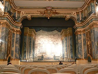 Schlosstheater Schwetzingen - View of the stage